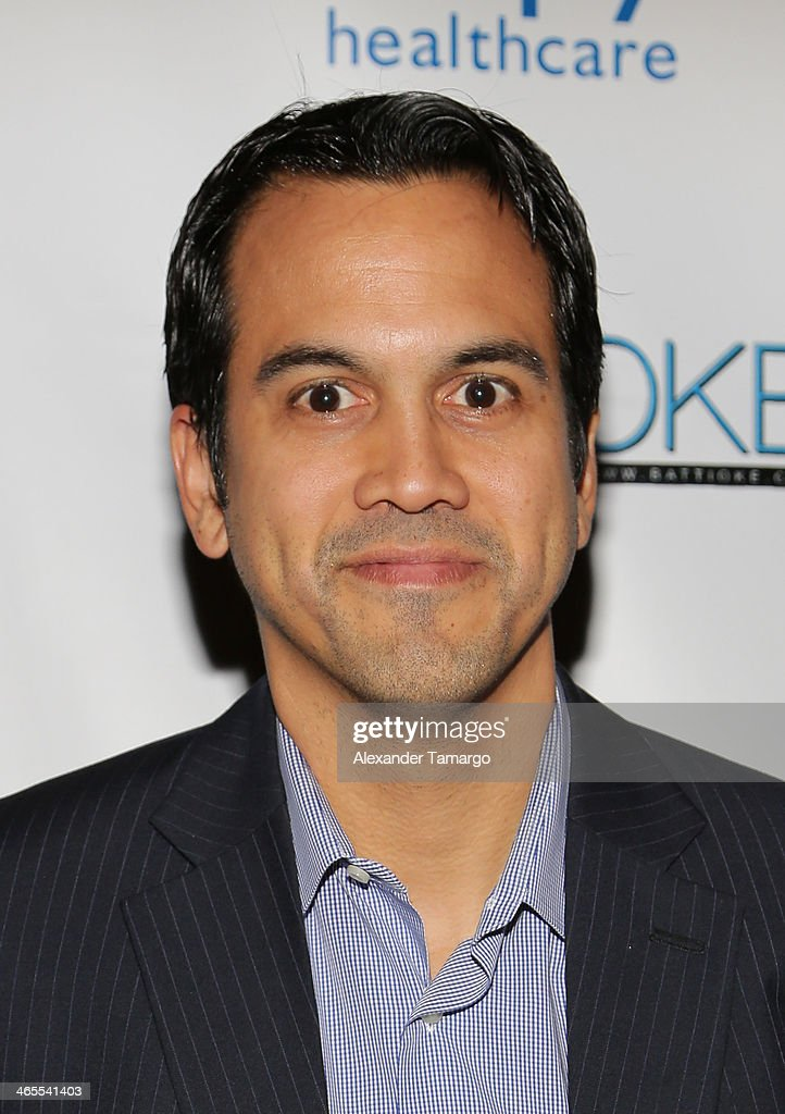 Erik Spoelstra arrives at South Beach Battioke 2014 at Fillmore Miami Beach on January 27, 2014 in Miami Beach, Florida.