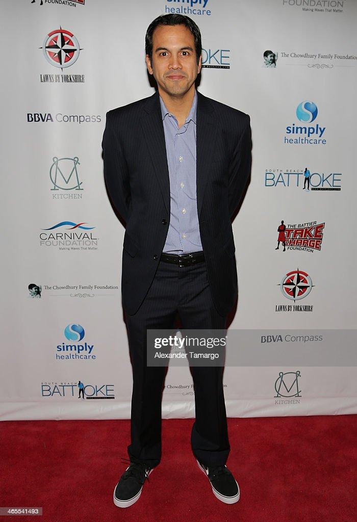 Erik Spoelstra arrives at South Beach Battioke 2014 at Fillmore Miami Beach on January 27, 2014 in Miami Beach, Florida.