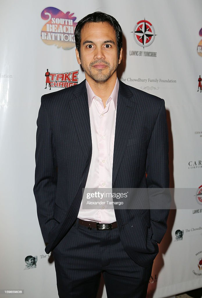 Erik Spoelstra attends the Second Annual 'South Beach Battioke' to Benefit The Battier Take Charge Foundation at Eden Roc Hotel on January 21, 2013 in Miami Beach, Florida.