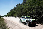 Erik Van Loon and Wouter Rosegaar of the Netherlands driving for XDakar ALL4 racing Mini compete during day 1 of the Dakar Rallly on January 4 2015...