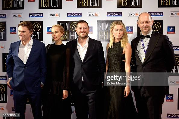 Erik Van Looy Isabel Lucas Bart De Pauw Rachel Taylor and Wim De Witte attends the Belgian world premiere of Loft at the 41 Ghent Film Festival on...