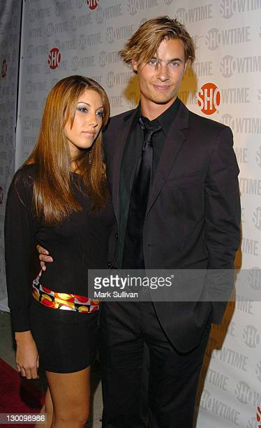 Erik Von Detten right and date Vanessa during The 57th Annual Emmy Awards Showtime After Party in Los Angeles California United States