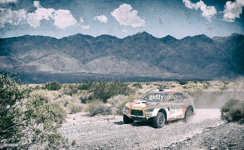 Erik Wevers of the Netherlands and Fabian Lurquin of Belgium for Hrx Riwald Dakar Team Powered by Wevers Sport compete during Day 5 of the 2014 Dakar Rally on January 9, 2014 in San Jose, Argentina.