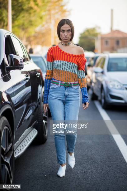 Erika Boldrin is seen outside Missoni during Milan Fashion Week Spring/Summer 2018 on September 23 2017 in Milan Italy