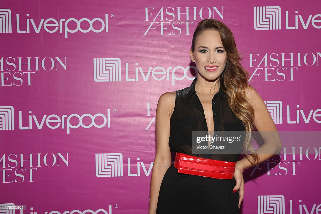 Erika Bruni attends the Liverpool Fashion Fest Autumn/Winter 2013 at Club de Banqueros on August 22, 2013 in Mexico City, Mexico.