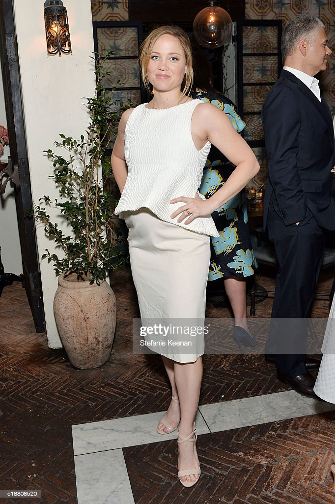 Erika Christensen attends a dinner celebrating Kerry Washington hosted by ELLE, Editor-In-Chief, Robbie Myers and Movado, Chairman & CEO, Efraim Grinberg at A.O.C. on April 2, 2016 in Los Angeles, California.