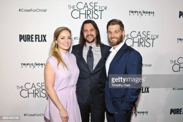 Erika Christensen Director Jon Gunn and Mike Vogel attend the Chicago premiere of 'The Case For Christ' at AMC River East Theater on April 6 2017 in...