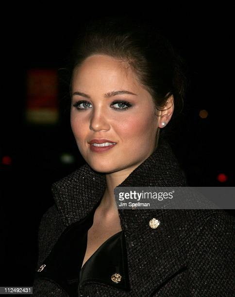 Erika Christensen during The Cinema Society Zenith Watches Host Screening of 'Flags of our Fathers' Outside Arrivals at Tribeca Grand Hotel Grand...