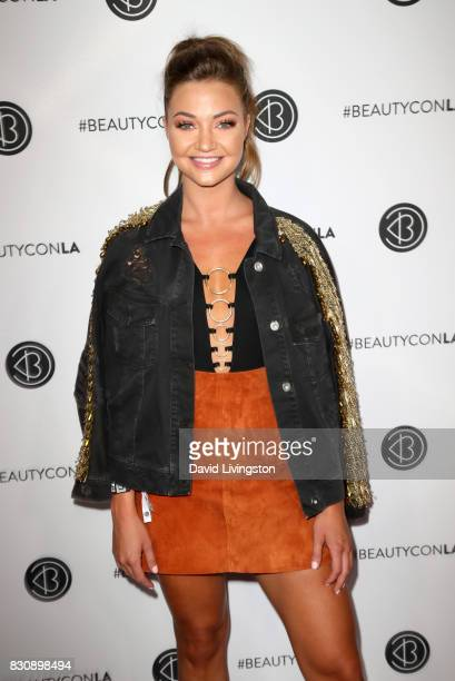 Erika Costell attends Day 1 of the 5th Annual Beautycon Festival Los Angeles at the Los Angeles Convention Center on August 12 2017 in Los Angeles...