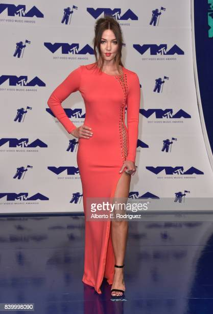 Erika Costell attends the 2017 MTV Video Music Awards at The Forum on August 27 2017 in Inglewood California