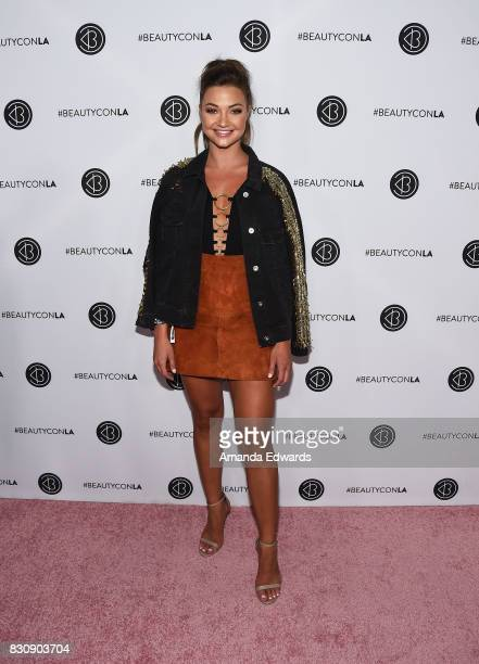 Erika Costell attends the 5th Annual Beautycon Festival Los Angeles at the Los Angeles Convention Center on August 12 2017 in Los Angeles California