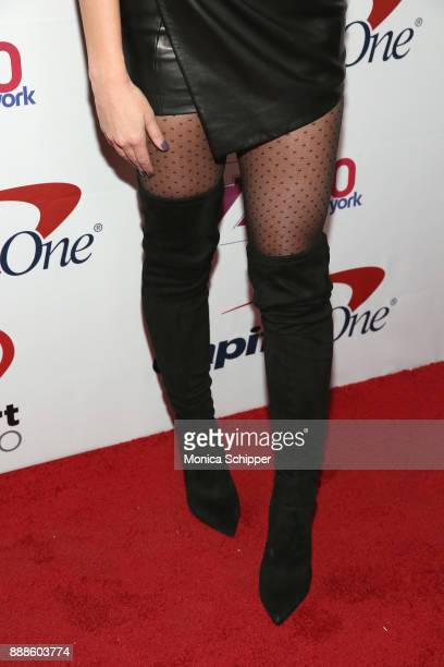 Erika Costell shoe detail attends the Z100's Jingle Ball 2017 press room on December 8 2017 in New York City