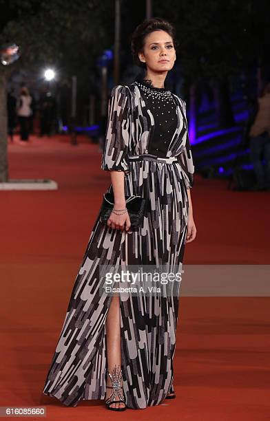 Erika D'Ambrosio walks a red carpet for '7 Minuti' during the 11th Rome Film Festival at Auditorium Parco Della Musica on October 21 2016 in Rome...