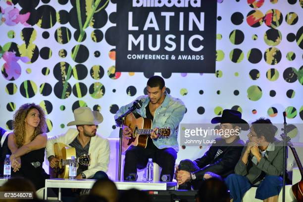 Erika Ender Joss Favela Manuel Medrano Horacio Placencia and Servando Primera during The Billboard Latin Music Conference Awards Songwriters The New...