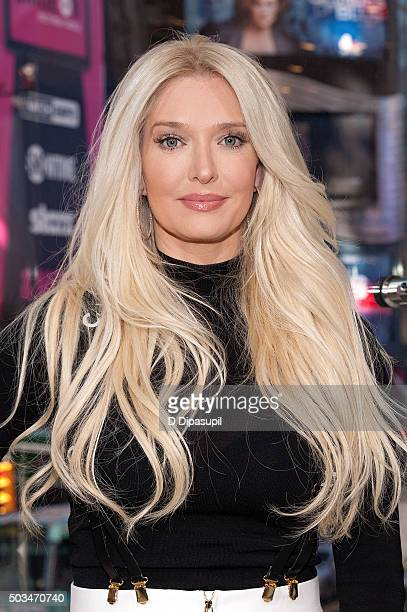Erika Girardi visits 'Extra' at their New York studios at HM in Times Square on January 5 2016 in New York City