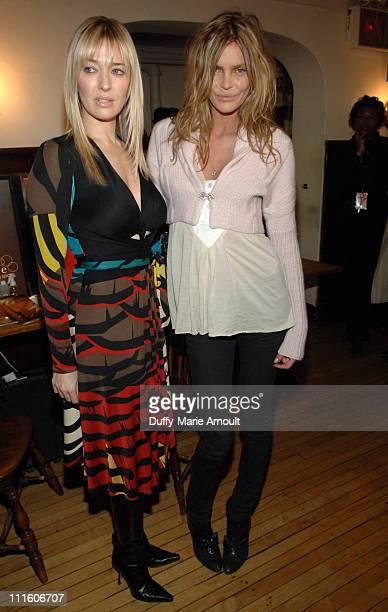 Erika Jayne and May Andersen backstage at Issa Fall 2007