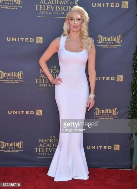 Erika Jayne arrives at the 44th Annual Daytime Emmy Awards at Pasadena Civic Auditorium on April 30 2017 in Pasadena California