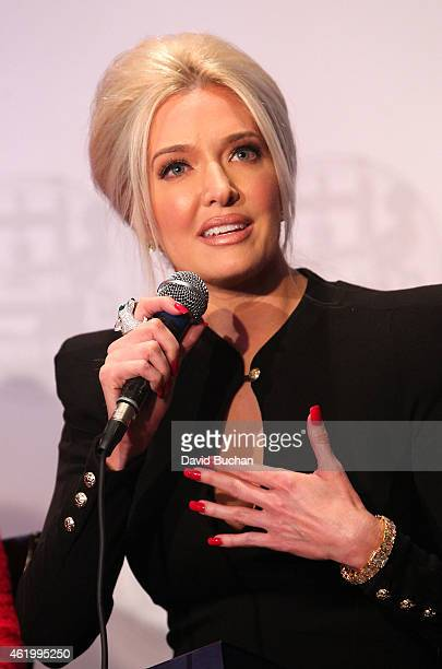 Erika Jayne attends Gloria Allred and Erika Jayne Honored by LGBTs In The News at Los Angeles Press Club on January 22 2015 in Los Angeles California