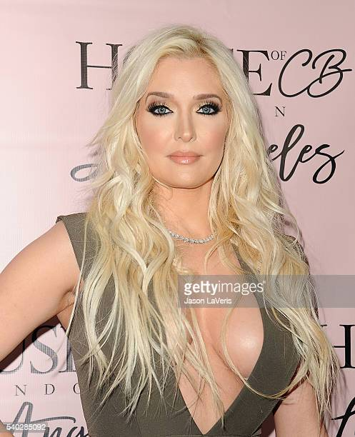 Erika Jayne attends the House of CB flagship store launch at House Of CB on June 14 2016 in West Hollywood California