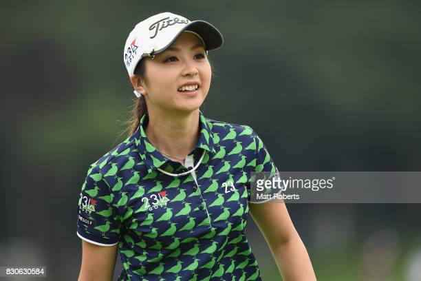 Erika Kikuchi of Japan looks on during the second round of the NEC Karuizawa 72 Golf Tournament 2017 at the Karuizawa 72 Golf North Course on August...