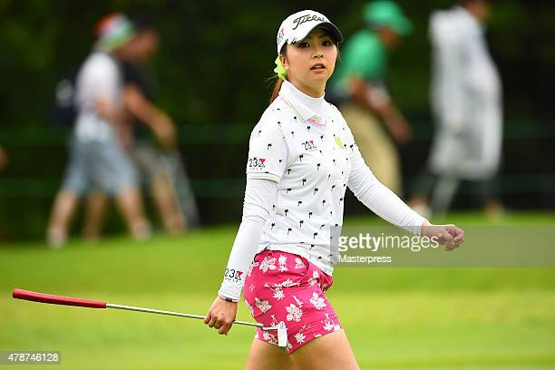 Erika Kikuchi of Japan looks on during the third round of the Earth Mondamin Cup at the Camellia Hills Country Club on June 27 2015 in Sodegaura Japan