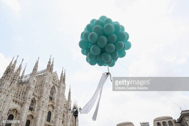 Erika Lemay attends the opening ceremony of the new Tiffany Co store in Piazza Duomo on July 11 2017 in Milan Italy
