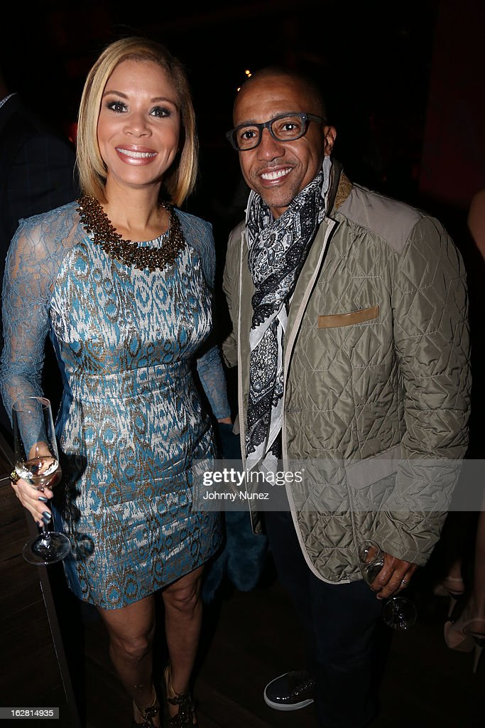 Erika Liles and Kevin Liles attend Kevin Liles' 45th Birthday Party at The Rec Room on February 27, 2013 in New York City.