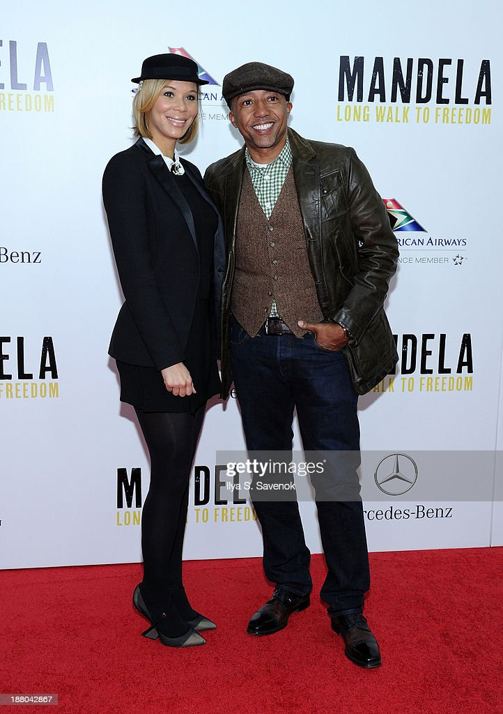 Erika Liles and <a gi-track='captionPersonalityLinkClicked' href=/galleries/search?phrase=Kevin+Liles&family=editorial&specificpeople=236082 ng-click='$event.stopPropagation()'>Kevin Liles</a> attend the New York premiere of 'Mandela: Long Walk To Freedom' hosted by The Weinstein Company, Yucaipa Films and Videovision Entertainment, supported by Mercedes-Benz, South African Airways and DeLeon Tequila at Alice Tully Hall, Lincoln Center on November 14, 2013 in New York City.