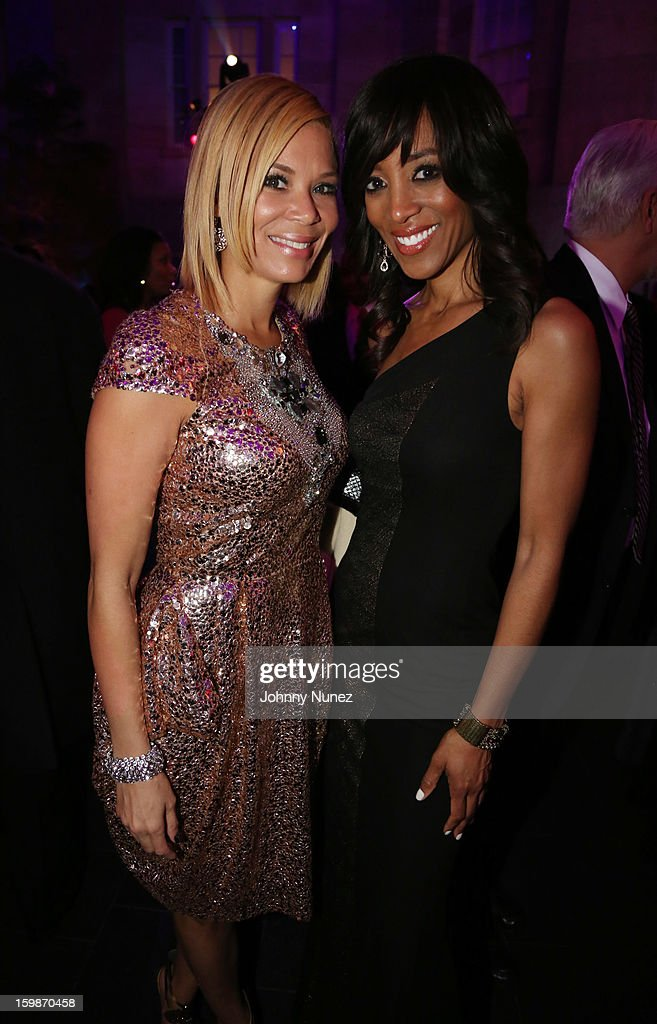 Erika Liles and Shaun Robinson attend the 2013 BET Networks Inaugural Gala at Smithsonian National Museum Of American History on January 21, 2013 in Washington, United States.