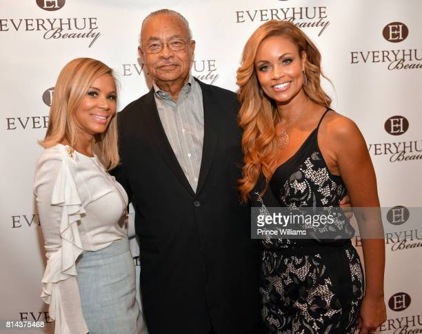 Erika Liles Curtis Graves and Gizelle Bryant attend EveryHue PopUp Shop at Swagg Boutique on July 13 2017 in Atlanta Georgia
