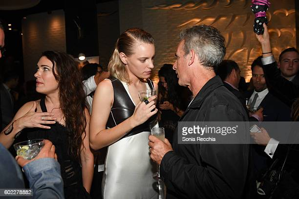 Erika Linder attend the film premiere after party for Serendipity Point Films' 'Below Her Mouth' at Supper Suite by STK on September 10 2016 in...
