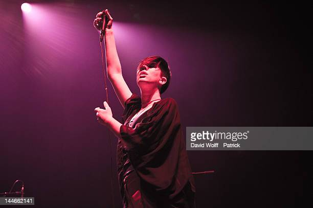Erika M Anderson from EMA opens for Garbage at L'Olympia on May 16 2012 in Paris France