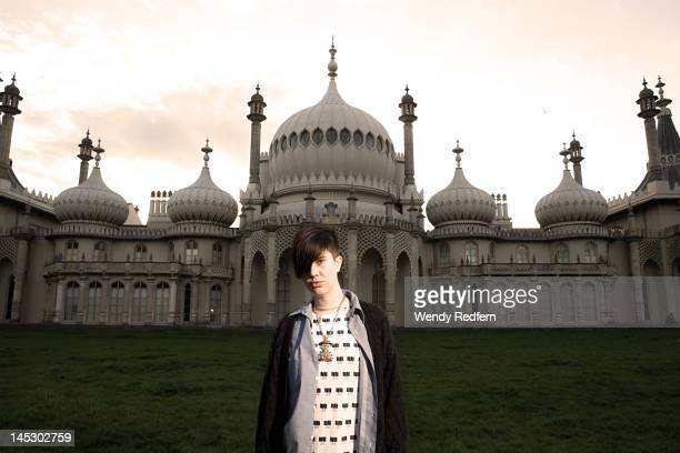 EMA Erika M Anderson photographed outside the Royal Pavilion in Brighton during The Great Escape Festival on 12th May 2012