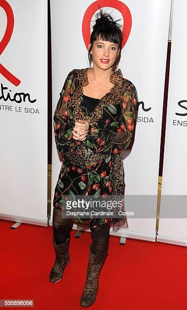 Erika Moulet attends 'Sidaction 2010' press conference at Casino de Paris