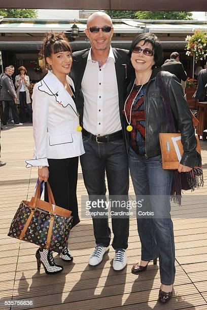 Erika Moulet Franck LebÏuf and Liane Foly at Roland Garros Village