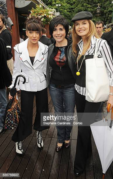Erika Moulet Liane Foly and Cyrielle Claire at Roland Garros Village