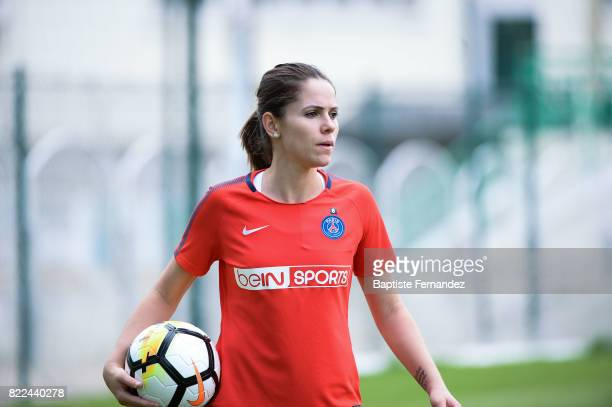Erika of Paris Saint Germain during a training session of Paris Saint Germain at Bougival on July 25 2017 in Paris France