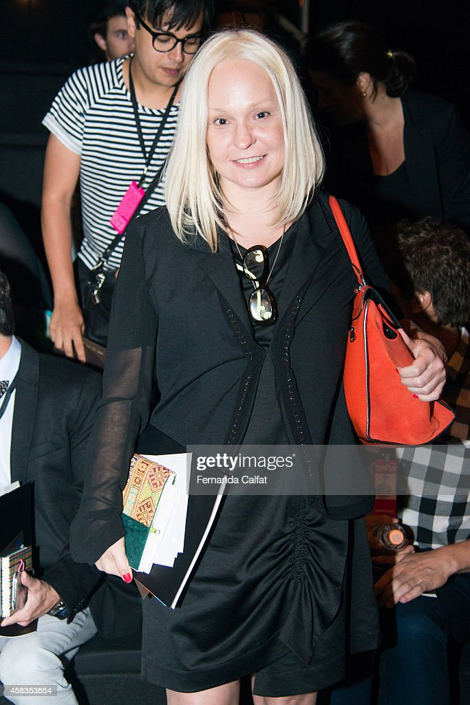 Erika Palomino attends the Victor Dzenk fashion show during Sao Paulo Fashion Week Winter 2015 at Parque Candido Portinari on November 3 2014 in Sao...
