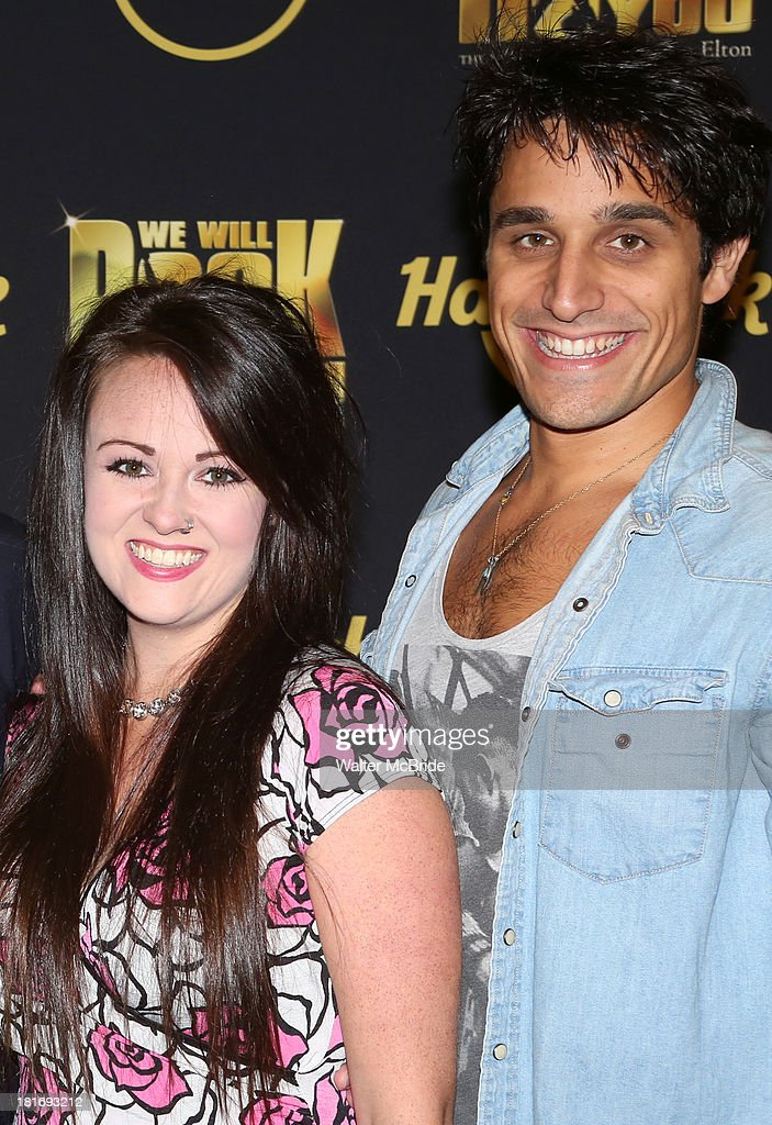 Erika Peck and Jared Zirilli attend the 'We Will Rock You' North America Tour Rehearsals at The New 42nd Street Studios on September 23, 2013 in New York City.