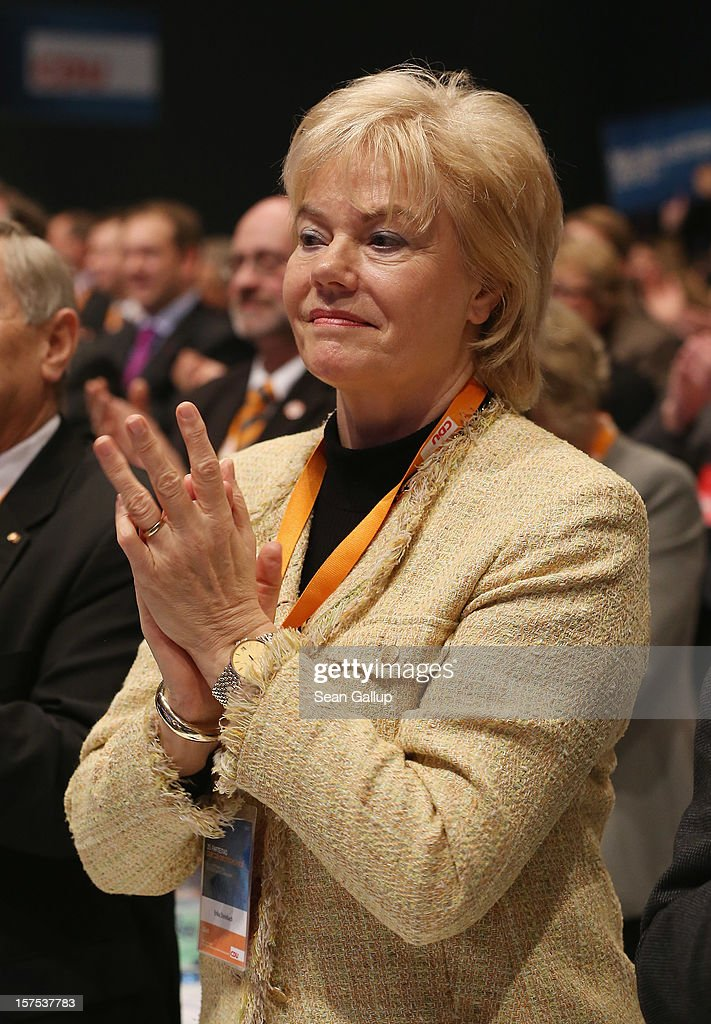 Erika Steinbach, President of the Federation of Expellees (Bund der Vertriebenen), attends the federal party convention of the Christian Democratic Union (CDU) on December 4, 2012 in Hanover, Germany. The CDU has a strong lead over its opponents though has recently lost the mayoral posts in several major German cities to opposition parties. Germany faces federal elections in 2013.