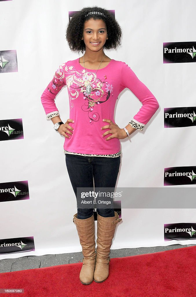 Erika Tascon arrives for the All Ages Valentine Bash 2013 held at Infusion Lounge on February 2, 2013 in Universal City, California.