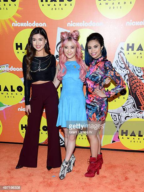 Erika Tham Megan Lee and Louriza Tronco attend the 2015 Halo Awards at Pier 36 on November 14 2015 in New York City