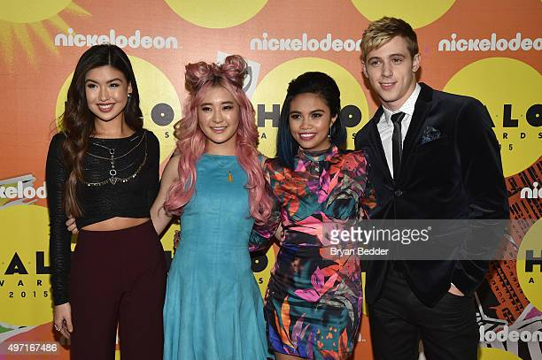 Erika Tham Megan Lee Louriza Tronco and Dale Whibley attend the 2015 Nickelodeon HALO Awards at Pier 36 on November 14 2015 in New York City