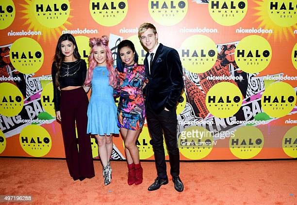 Erika Tham Megan Lee Louriza Tronco and Dale Whibley attend the 2015 Halo Awards at Pier 36 on November 14 2015 in New York City