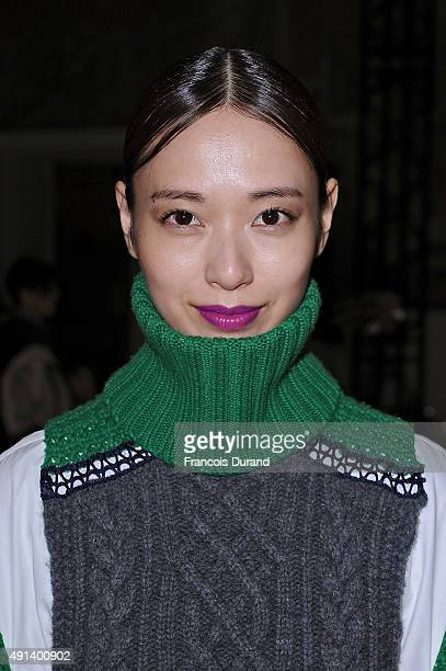 Erika Toda attends the Sacai show as part of the Paris Fashion Week Womenswear Spring/Summer 2016 on October 5 2015 in Paris France