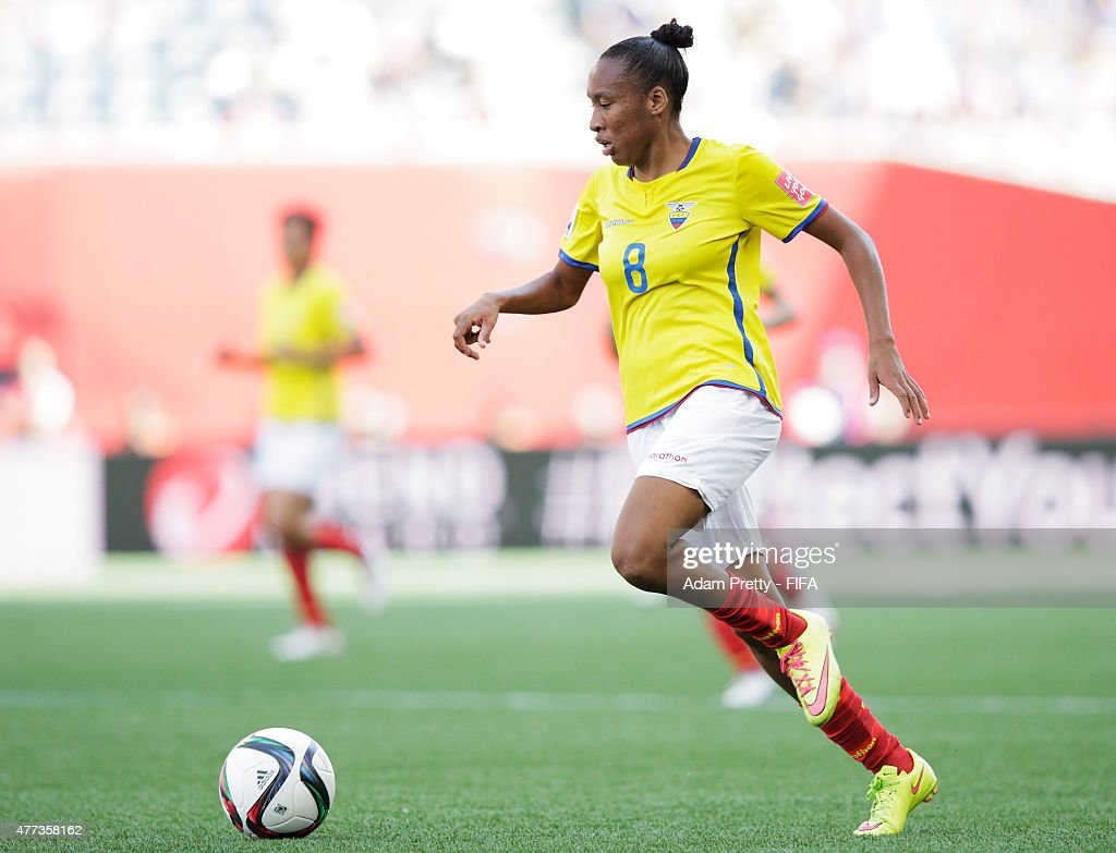 Erika Vasquez of Ecuador in action during the FIFA Women's World Cup 2015 Group C match between Ecuador and Japan at Winnipeg Stadium on June 16 2015...