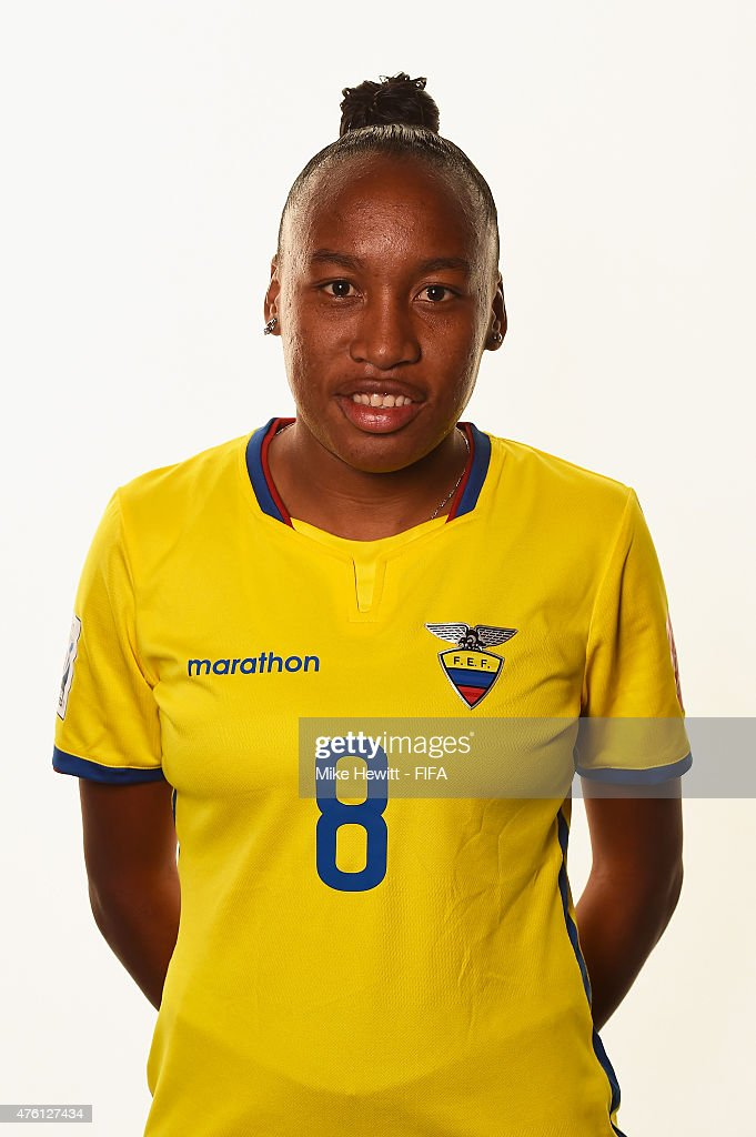 Erika Vasquez of Ecuador poses for a portrait during the official Ecuador portrait session ahead of the FIFA Women's World Cup 2015 at the Sheraton...
