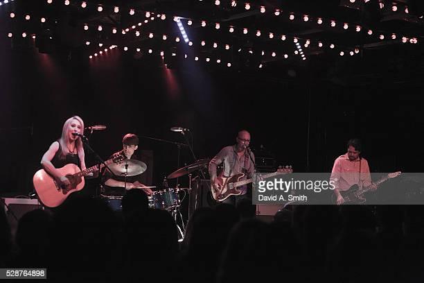 Erika Wennerstrom Dave Colvin Jesse Ebaugh and Mark Nathan of Heartless Bastards perform at Saturn Birmingham on May 6 2016 in Birmingham Alabama