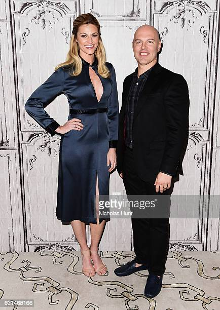 Erin Andrews and Dave Long attend the Build Presents Discussing 'Orange Theory' at AOL HQ on January 10 2017 in New York City