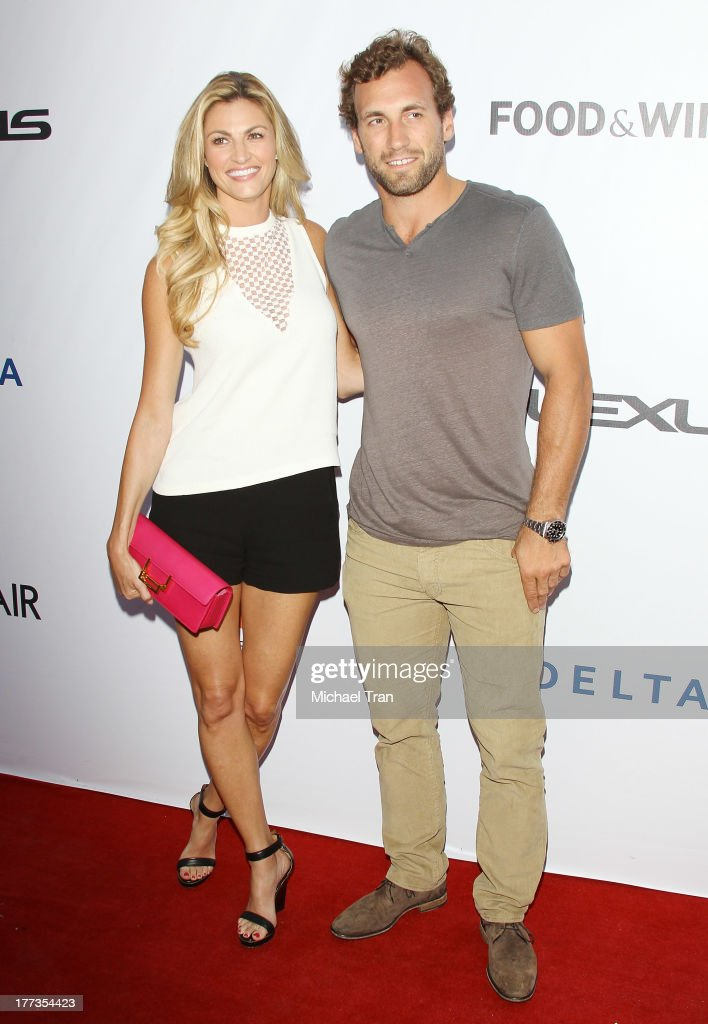 Erin Andrews (L) and Jarret Stoll arrive at the 2013 Los Angeles Food & Wine Festival - 'Festa Italiana With Giada De Laurentiis' opening night held on August 22, 2013 in Los Angeles, California.